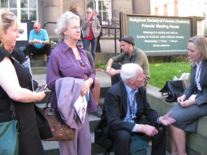 outside Friends Meeting House Manchester