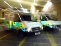 Ambulance in garage