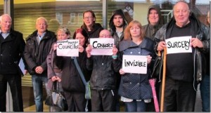 Service Users Attend to lobby But Councillor Connor didn't show up!