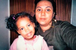 Kaiya Blake, when she was about 2 years old, and her mother Chantelle Louise Blake