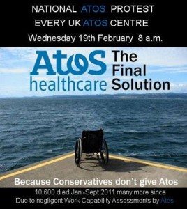 Atos Day of action 19th Feb 2014