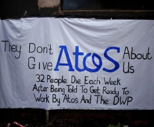 Salford Atos Protest photo by Steven Speed