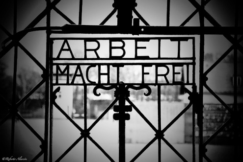 """ARBEIT MACHT FREI""  'Work Makes You Free'  Alan Hartman  22nd Nov 2014"