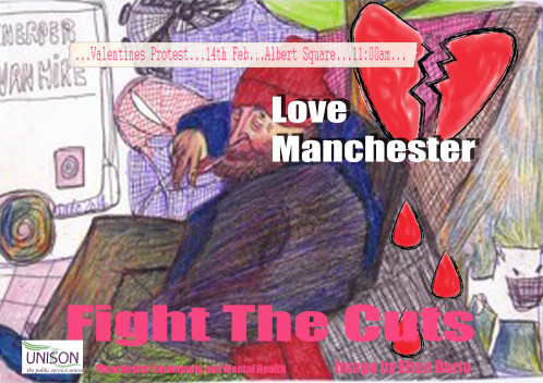 "Help to ""Stage the Heart"" this Valentine's Day against Killer Cuts to Mental Health & Homelessness Services 11am Prompt Manchester Town Hall Steps"