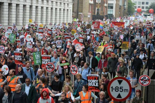 thousands march against Austerity June 20th 2015