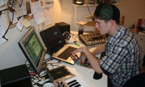 James Hardy at his computer