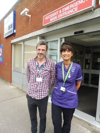 Mental health nurse Phil Johnson with Furness General Hospital matron Helen Thompson.