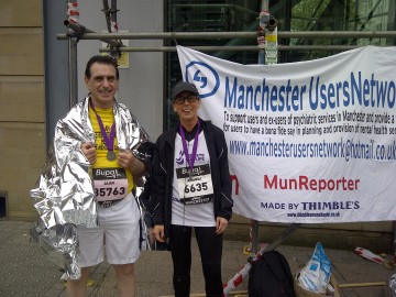 Running For Manchester Users Network Helps To Raise Funds.