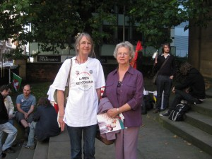 Former Labour MP Alice Mahon with Manchester NHS User