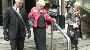 MS FOLEY WALKS DOWN THE STEPS OF THE COURT FOLEY SACKED NURSE REISSMAANN