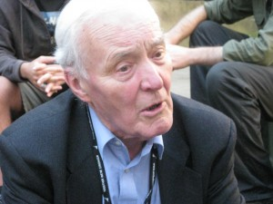 Former Government Minister the RT HON MR TONY BENN MP ON A VISIT TO MANCHESTER