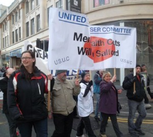 Salford & Manchester Service Users Join Manchester Anti Cuts March !