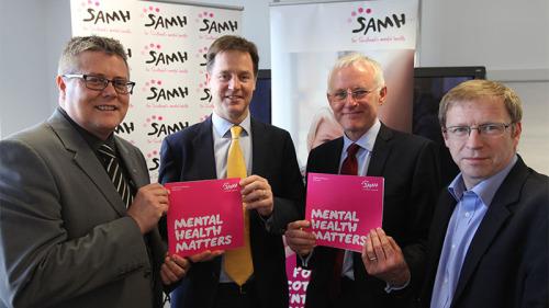 Nick Clegg Holds First Meeting of Mental Health Taskforce