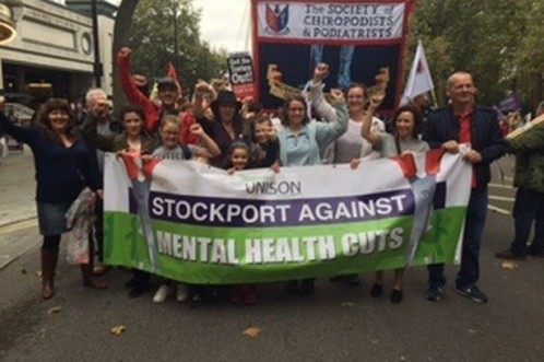Mental  health services centre could be saved after protests force Stockport Council rethink