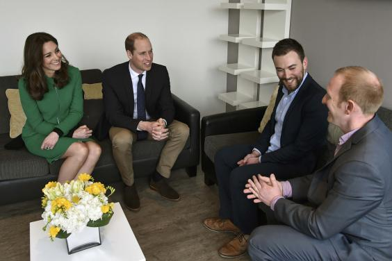 William and Kate meet mental health campaigner and the man who stopped him jumping off Waterloo bridge
