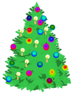 christmas-tree-with-light-candles
